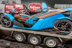 Oklejenie samochodu wyścigowego KTM