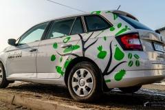Oklejanie samochodu osobowego Skoda
