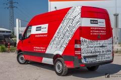 Oklejanie samochodów dostawczych Mercedes Sprinter