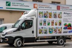 Reklama na samochodach ciężarowych izoterma