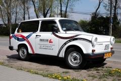 Oklejanie samochodu Trabant - prawy przód