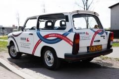 Oklejanie samochodu Trabant - lewy tył