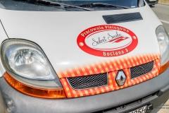 Reklama całopojazdowa na samochodzie dostawczym Renault Trafic - Sekret Smaków